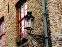 Réverbère de Bruges Photographie stock