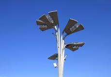 Réverbère en parc olympique Photo stock