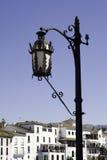 Réverbère noir complexe en Espagne Photos libres de droits