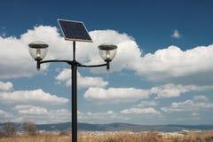 Réverbères actionnés photovoltaïques Photographie stock