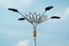 4 réverbères de LED Photographie stock libre de droits