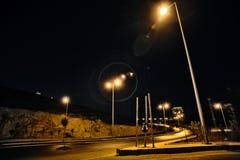 Réverbères de nuits Images libres de droits