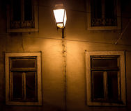 Réverbères historiques à Lisbonne Image libre de droits