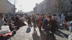 Révolution d'Euromaidan à Kiev banque de vidéos