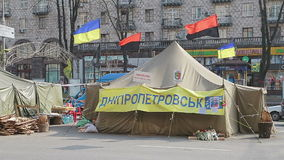 Révolution d'Euromaidan, tentes au centre de Kiev clips vidéos