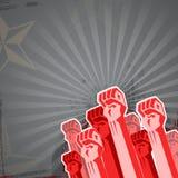 Révolution dans des sons rouges Image stock