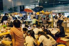 Révolution de parapluie en Hong Kong 2014 Photo libre de droits