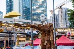 Révolution de parapluie en Hong Kong 2014 Photos stock
