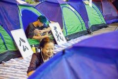 Révolution de parapluie en Hong Kong 2014 Photographie stock libre de droits