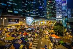 Révolution de parapluie en Hong Kong 2014 Photos libres de droits