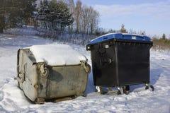 Révolution des récipients de déchets Photo stock