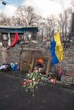 Révolution ukrainienne, Euromaidan après une attaque par le gouvernement f Image libre de droits