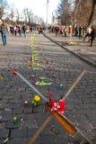Révolution ukrainienne, Euromaidan après une attaque par le gouvernement f Images libres de droits