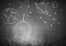 Rêve à être astronaute illustration stock