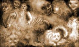 Rêve avec ghosts2 Image libre de droits