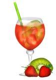 Rêve de cocktail de fruit illustration de vecteur