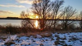 Rêve de janvier du soleil d'hiver Image libre de droits