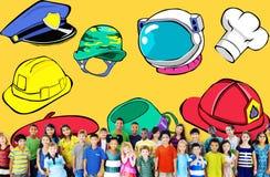 Rêve Job Goal Expertise Concept de profession de chapeau Photos libres de droits