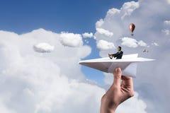 Rêver à devenir pilote Images libres de droits