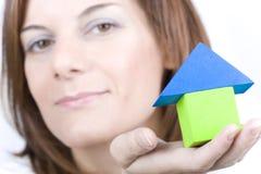 Rêver d'acheter une maison neuve Photographie stock libre de droits