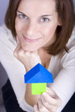 Rêver d'acheter une maison neuve Image libre de droits