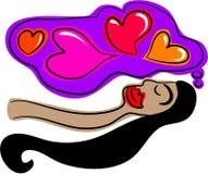 Rêver de l'amour illustration libre de droits