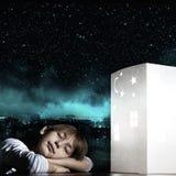 Rêver de nuit Photo stock