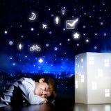 Rêver de nuit Photographie stock