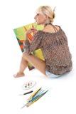 Rêver de peintre de femme Photo stock