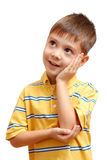 Rêver de petit garçon Photo stock