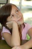 Rêver de petite fille Image libre de droits