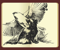 Rêver des ailes et de l'illustration de liberté Photographie stock