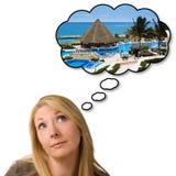 Rêver des vacances de vacances Photographie stock