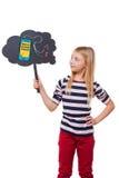 Rêver du nouveau téléphone intelligent images stock