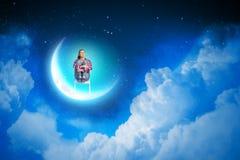 Rêver la nuit Photographie stock libre de droits