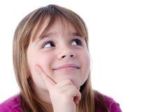 Rêver la verticale de fille d'enfant Photo libre de droits