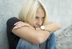 Rêver le femme Photo libre de droits