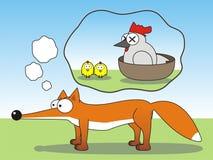 Rêver le renard image stock