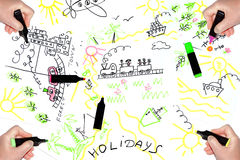 Rêves au sujet des vacances Image libre de droits