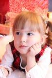 Rêves d'enfant dans Noël Image stock