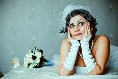 Rêves de jeune mariée Photographie stock libre de droits