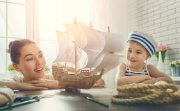 Rêves de mer, d'aventures et de voyage Image stock