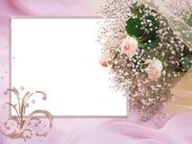 Rêves de rose de carte de mariage Images libres de droits
