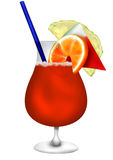 Rêves de rouge de cocktail illustration de vecteur