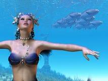 Rêves de sirène photo libre de droits