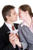 Rêves et amour dans le travail Image stock