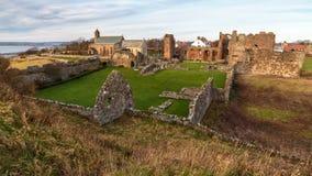 Rêves et mystères antiques de Lindisfarne images stock