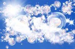 Rêves roses dans des bulles de savon Photographie stock libre de droits
