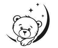 Rêveur d'ours en noir et blanc Photographie stock libre de droits