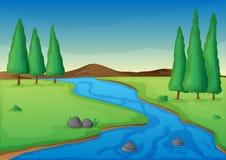 Río ilustración del vector
